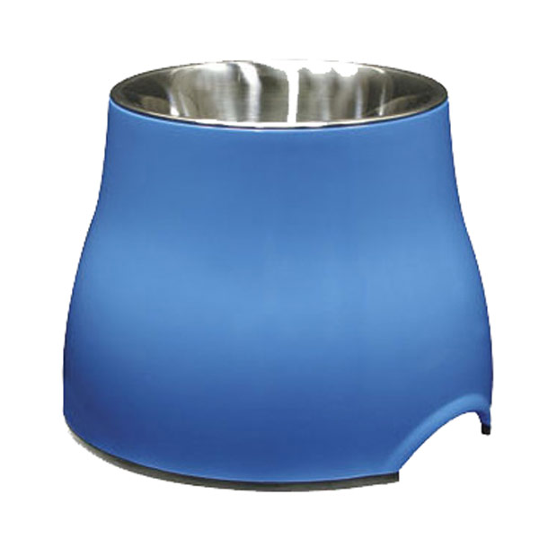 Dogit Elevated Dish with Stainless Steel Insert Large 900ml Blue