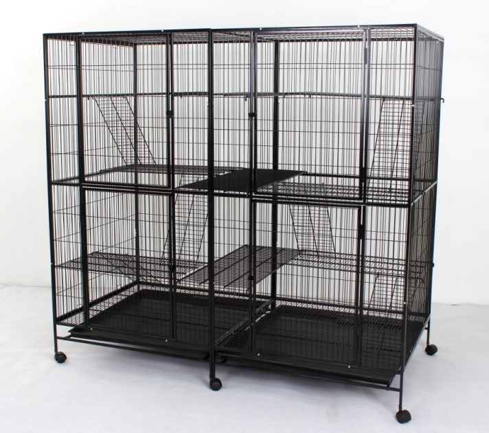 Steel Cat Cage 635 with 4 Doors & 6 Platforms