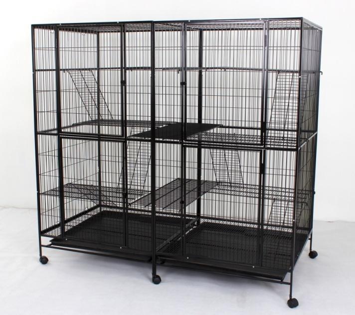 Steel Cat Cage 635 with 4 Doors & 6 Platforms