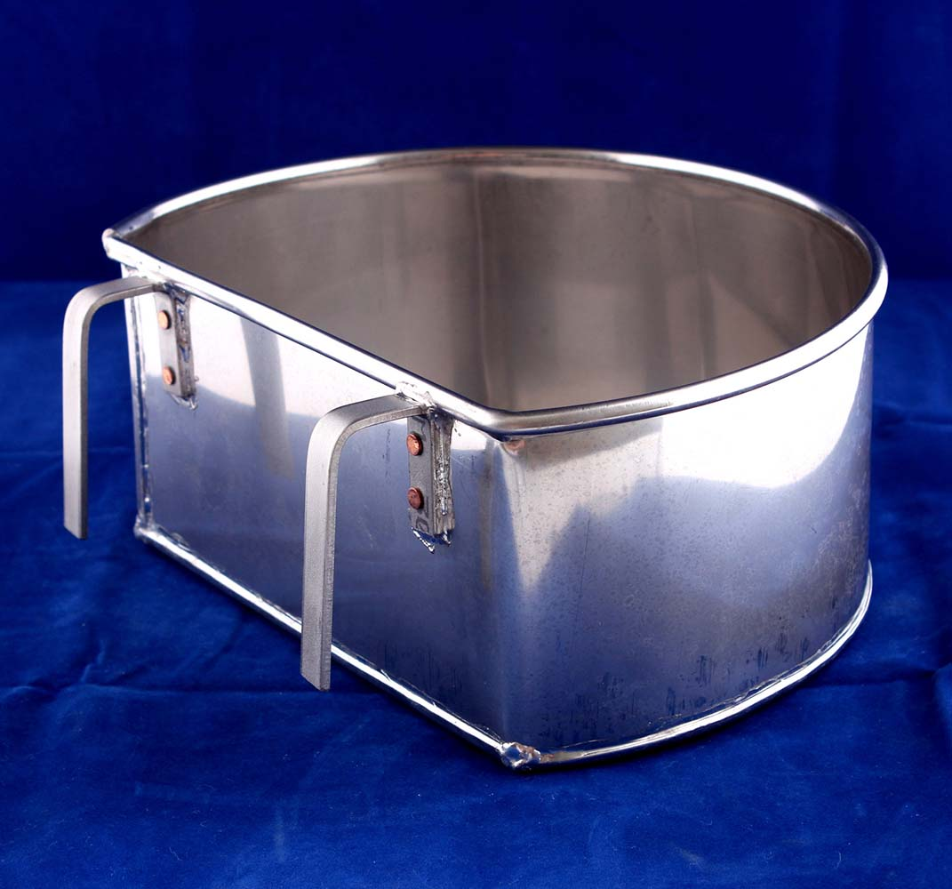 Stainless Steel D-Shape Bowl 9 Inches 6609