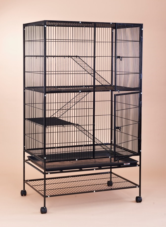 Steel Cat Cage 6642 with Central Net ( Split into 2 cages )