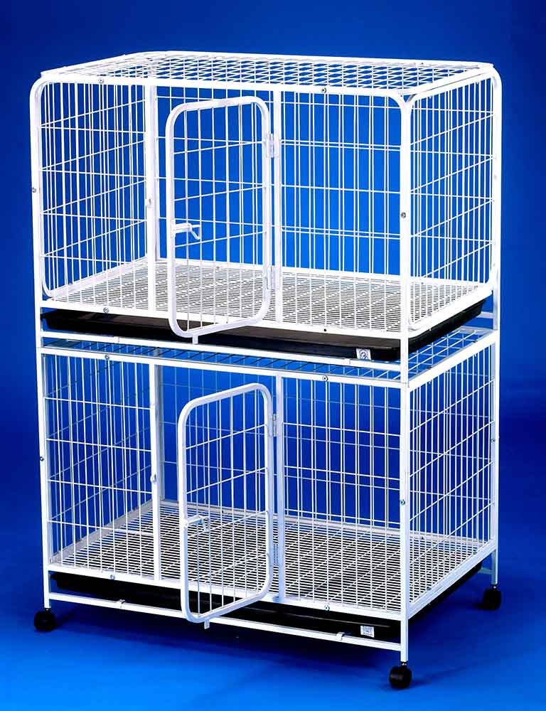 Double Storey Steel Dog Cage D2322