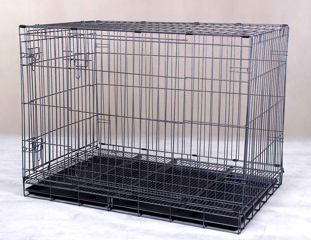 Collapsible Pet Cage D307 with 2 Doors