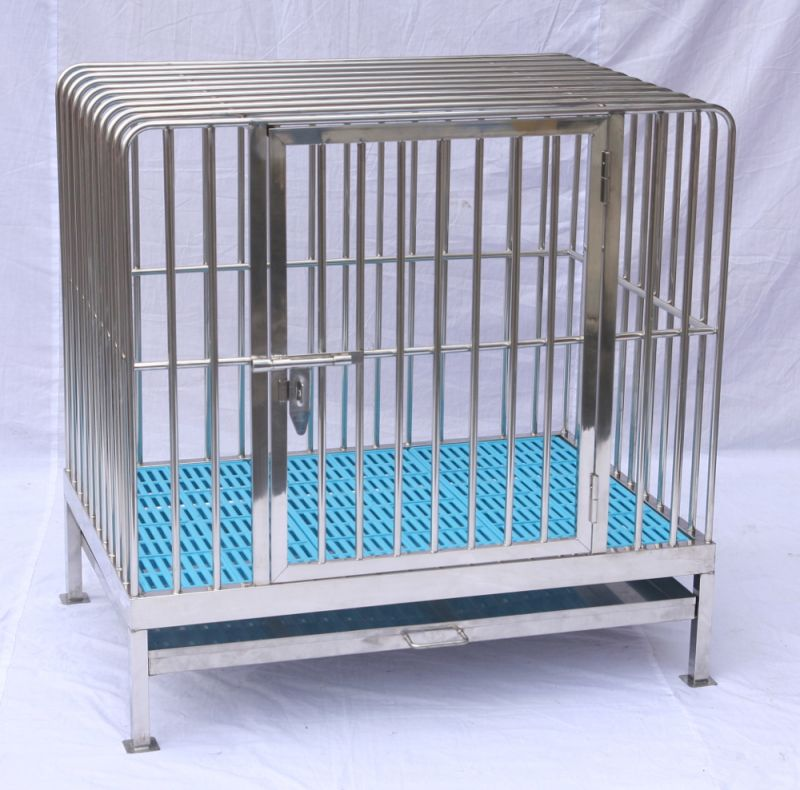 Fully Welded Stainless Steel Dog Cage DC3H