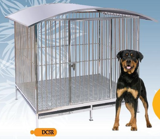 Fully Welded Stainless Steel Dog Cage DC5R with Roof