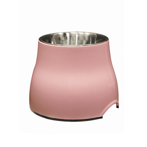 Dogit Elevated Dish with Stainless Steel Insert Small 300ml Pink