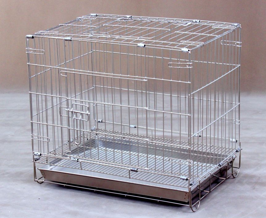Collapsible Stainless Steel Dog Cage S103