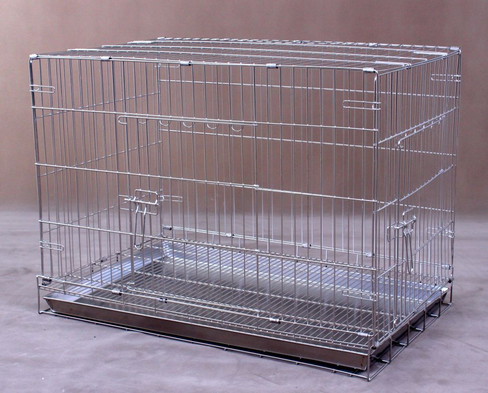 Collapsible Stainless Steel Dog Cage S1081