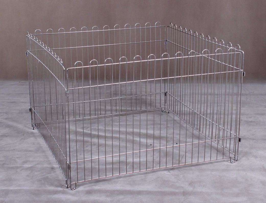 Stainless Steel Playpen S112 4 Pcs