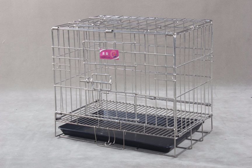 Collapsible Stainless Steel Pet Cage SC101