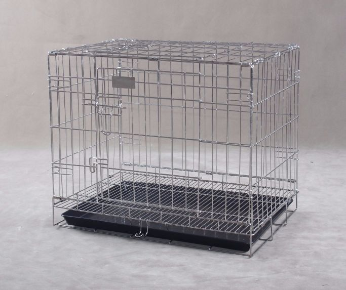 Collapsible Stainless Steel Pet Cage SC102