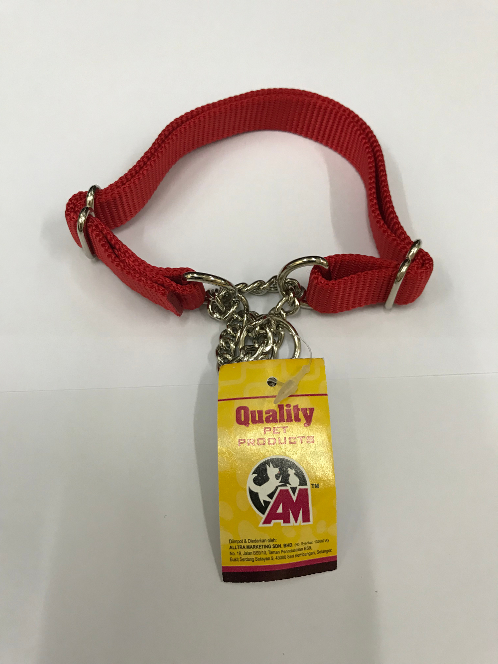 Nylon Training Chain for Medium Dog 20mm width 14in to 22in Red