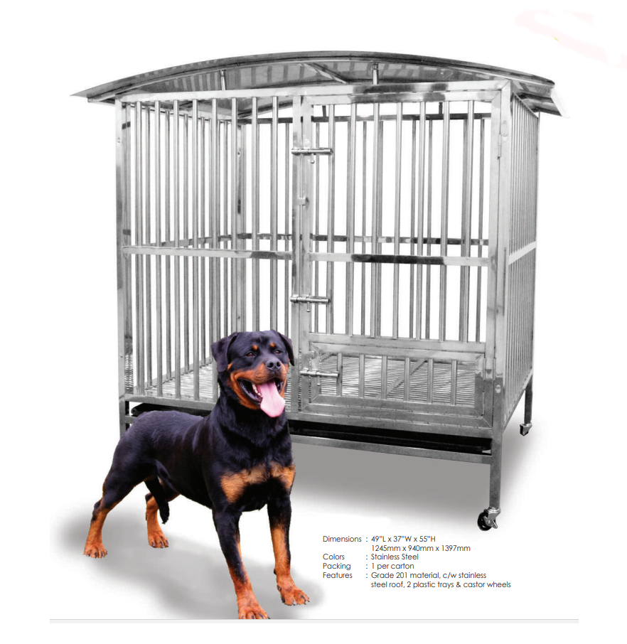 Stainless Steel Dog Cage SSC9315R with Roof