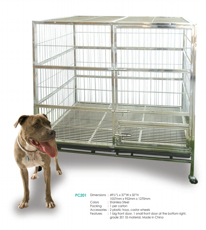 Stainless Steel Dog Cage PC201