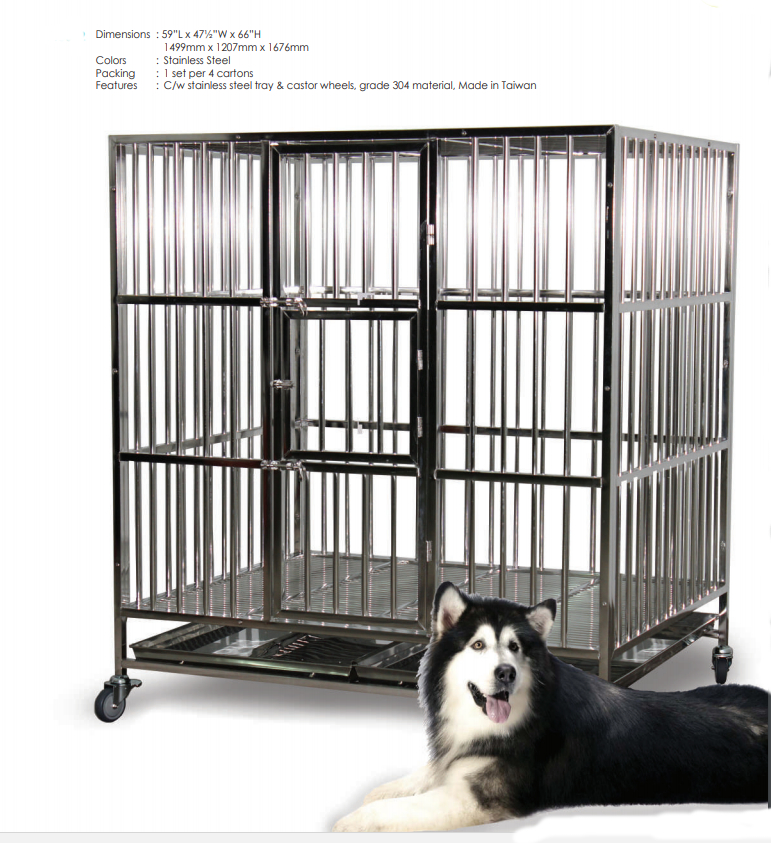 Stainless Steel Dog Cage SSC450
