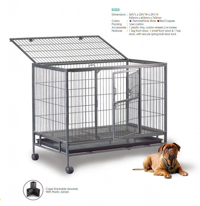 Steel Dog Cage D323