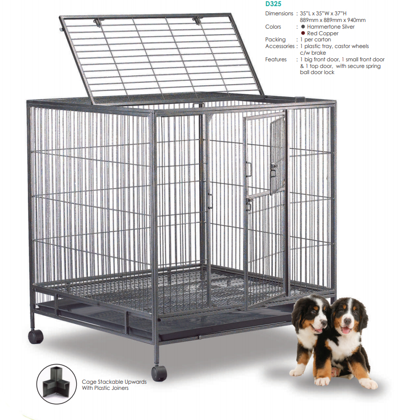 Steel Dog Cage D325