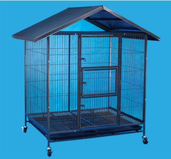 Steel Dog Cage D336R with Metal Roof