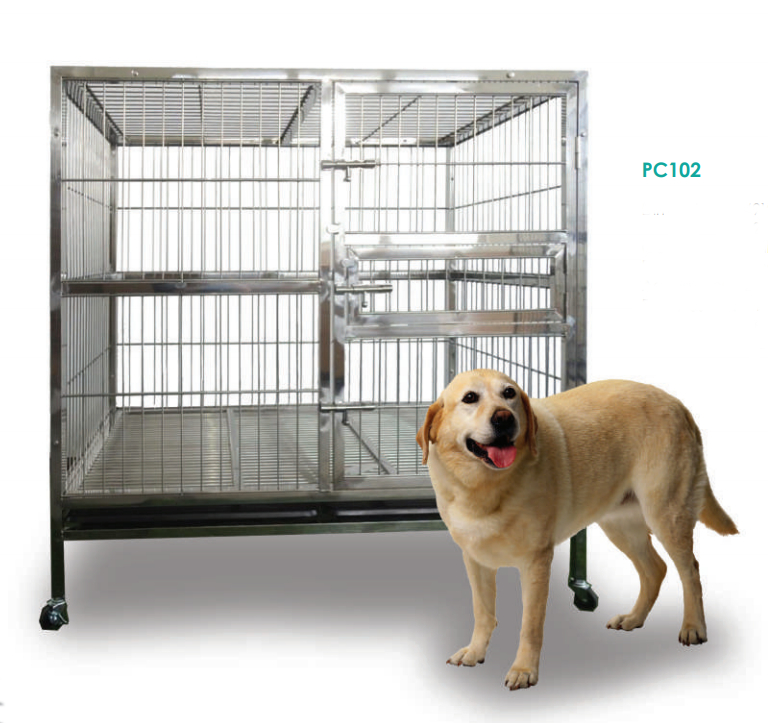 Stainless Steel Dog Cage PC102