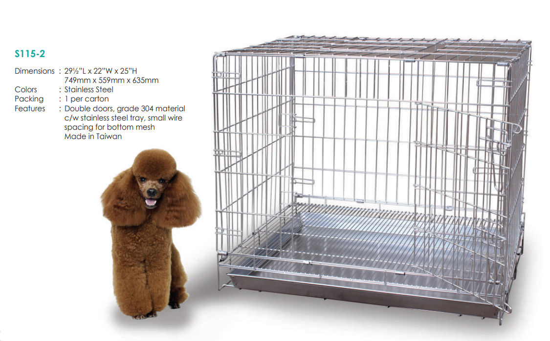Collapsible Stainless Steel Pet Dog Cage S1152