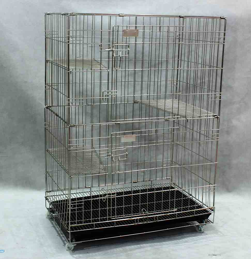 Collapsible Stainless Steel Cat Cage SCC201