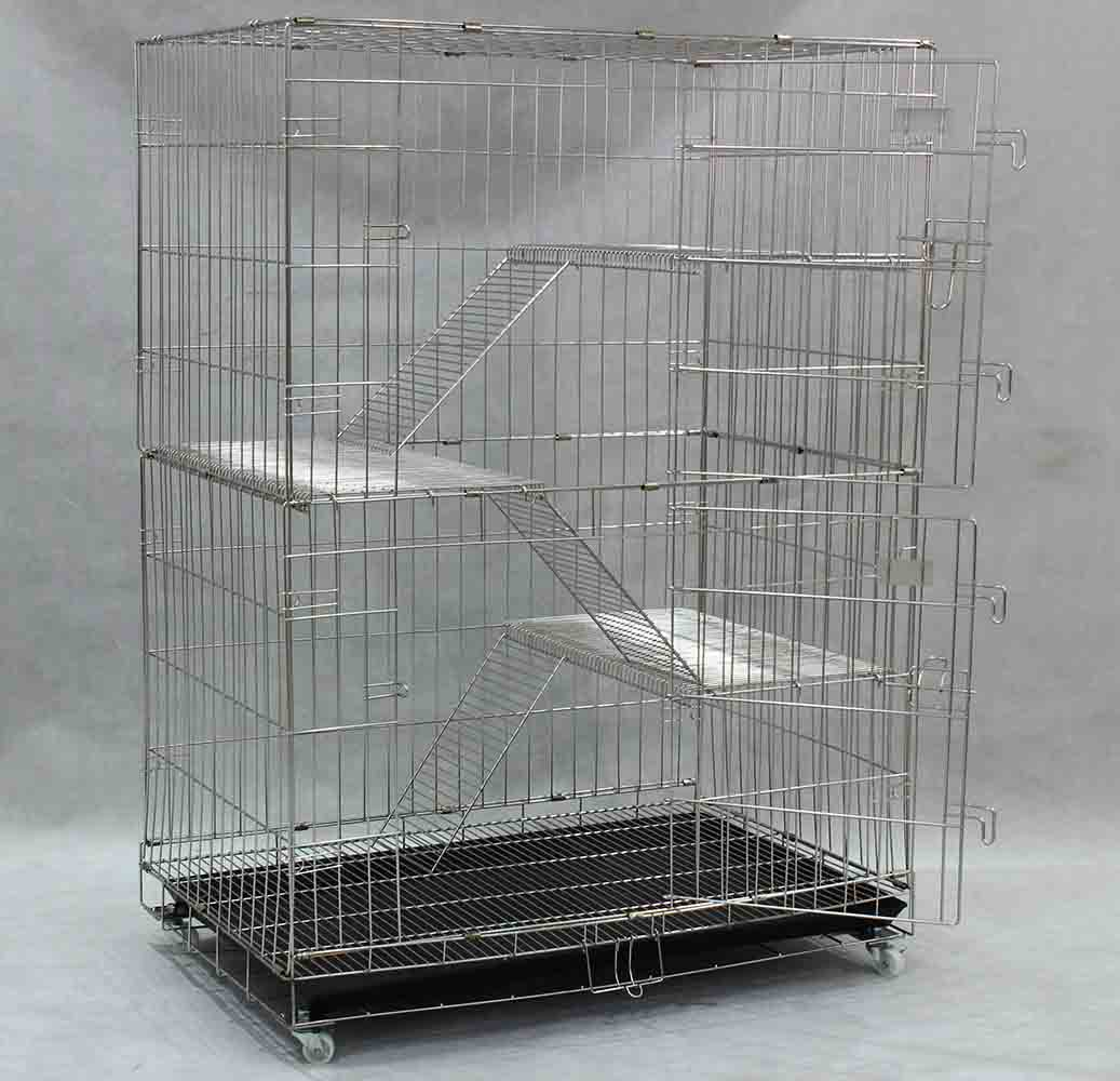 Collapsible Stainless Steel Cat Cage SCC202