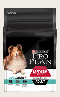 Purina ProPlan ADULT MEDIUM SENSITIVE DIGESTION WITH OPTIDIGEST 12Kg