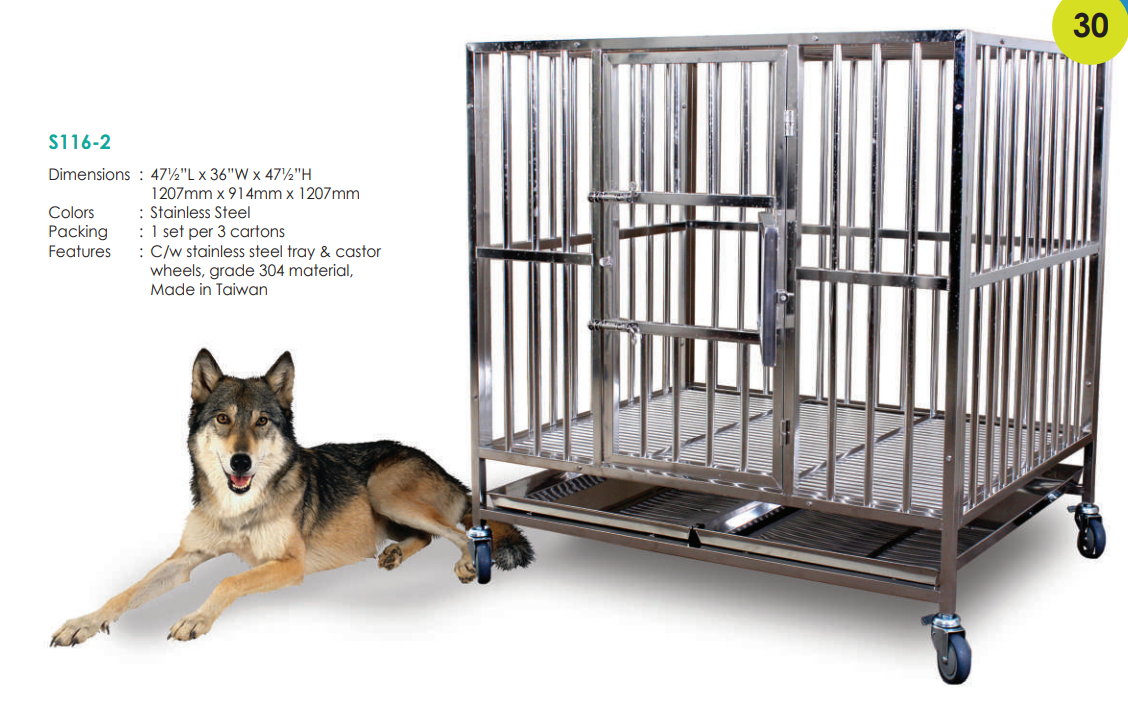 Stainless Steel Dog Cage S1162 (304 Material)