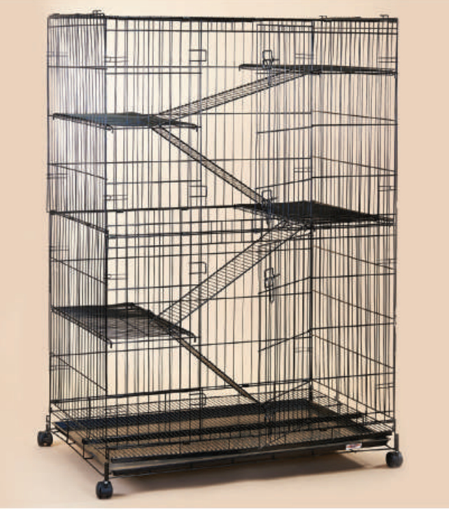 Steel Cat Cage C388RI with Wheels