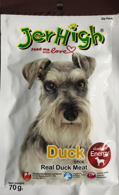 JerHigh Duck Stick Premium Dog Treats 70gm x 12 Packs